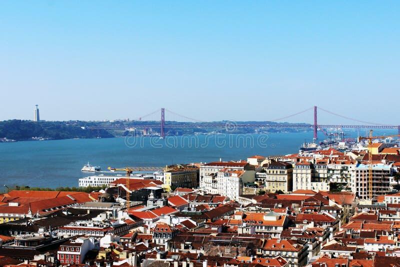 25th of April Bridge, Lisbon, Portugal royalty free stock photo