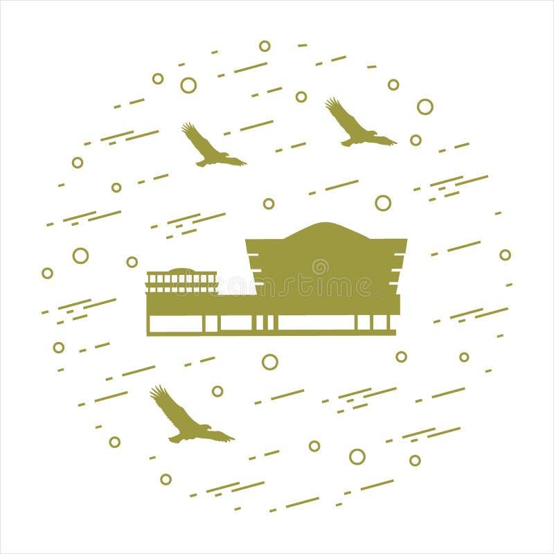 20th arkitektoniskt som blev landmarks lloyd lokaliserade manhattan som för symbol för utgångspunkt för guggenheim för öppenhjärt stock illustrationer