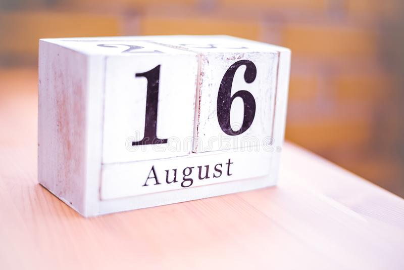 16th of August - August 16 - Birthday - International Day - National Day stock image