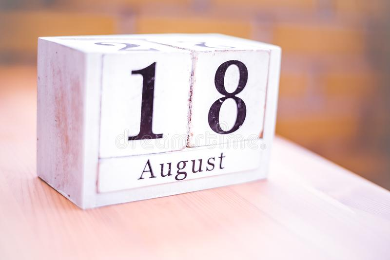 18th of August - August 18 - Birthday - International Day - National Day stock images
