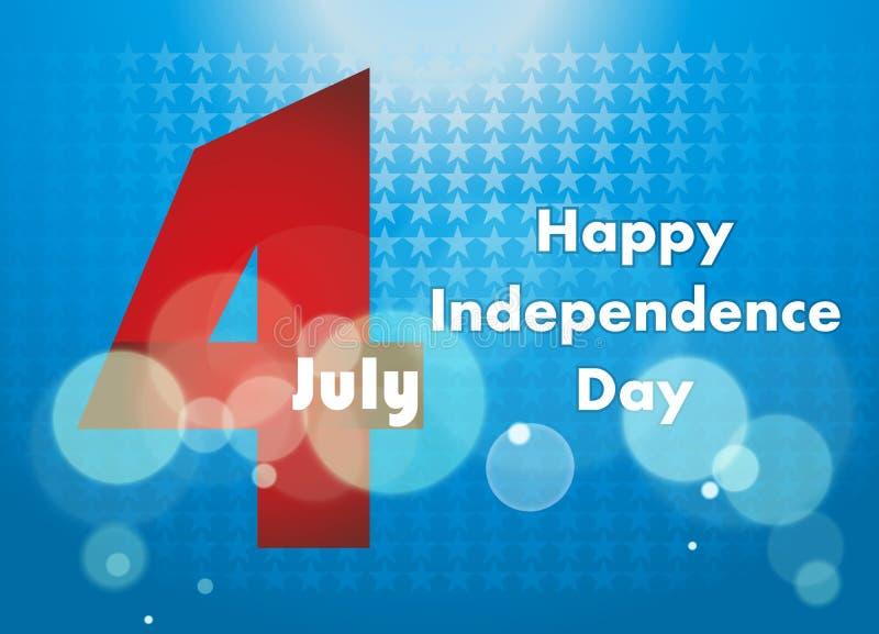 4th av den Juli illustrationen, amerikansk självständighetsdagenberöm arkivbild