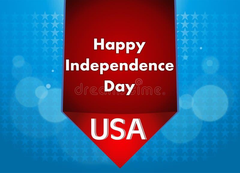 4th av den Juli illustrationen, amerikansk självständighetsdagenberöm royaltyfri illustrationer