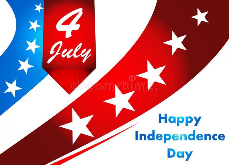 4th av den Juli illustrationen, amerikansk självständighetsdagenberöm arkivfoton