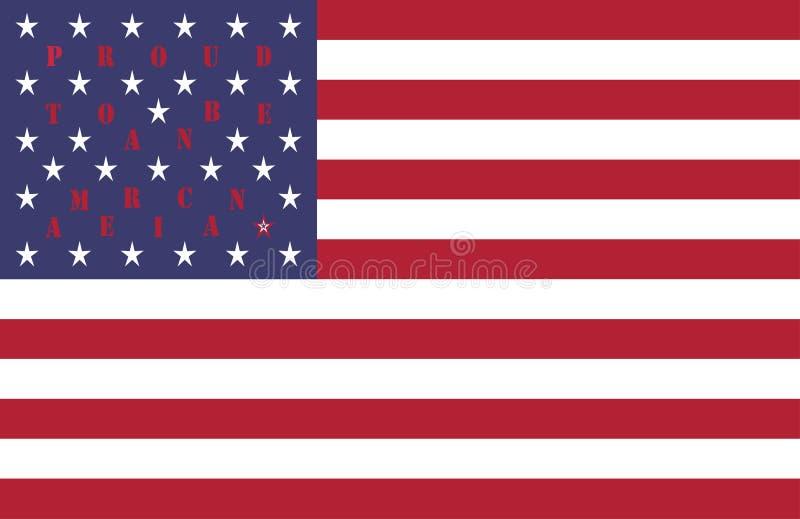 4th av designen för bakgrund för vektor för modell för Juli USA självständighetsdagenberöm med citationstecknet som är stolt att  stock illustrationer