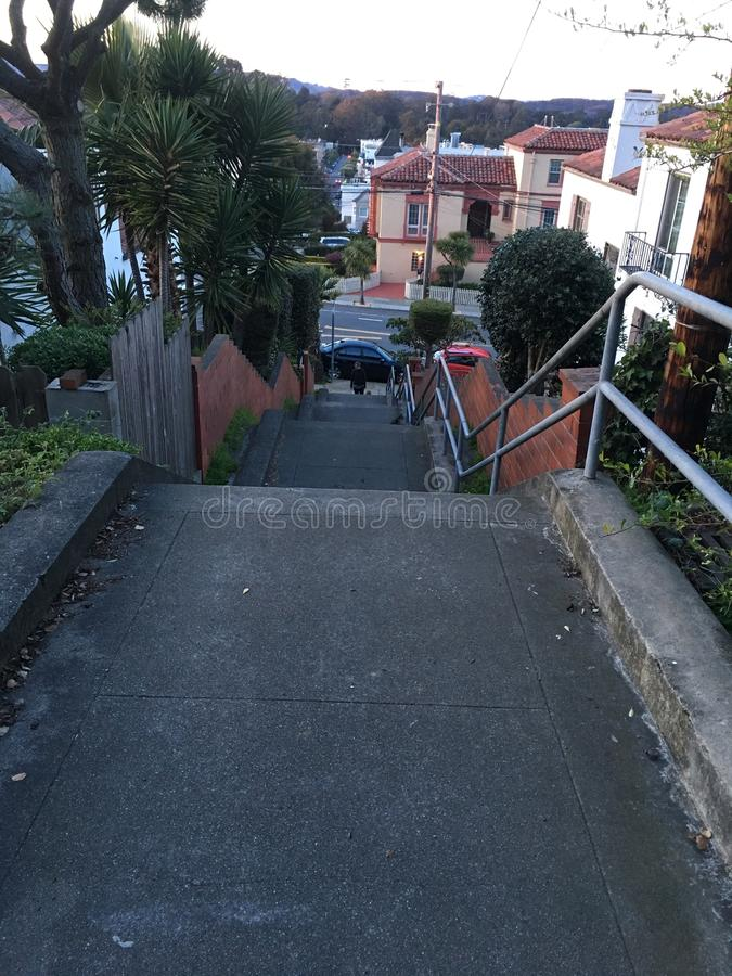 15Th Avenue steps, one of San Francisco`s smallest, UNofficial parks, 4. San Francisco has many beautiful, and well known, parks, as well as hills. There are royalty free stock photos