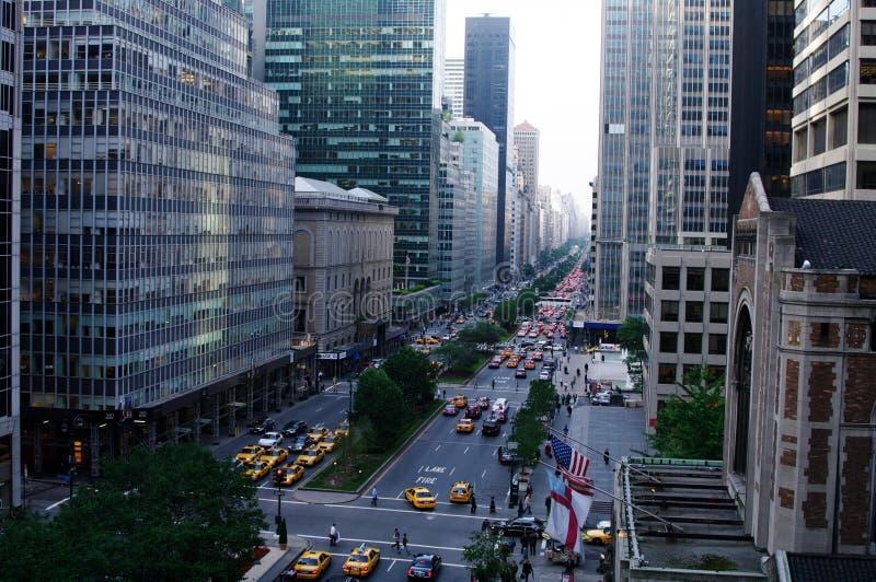 5th aveny New York City, New York fotografering för bildbyråer