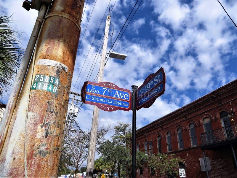 7th aveny, Ybor stad, Tampa arkivbilder