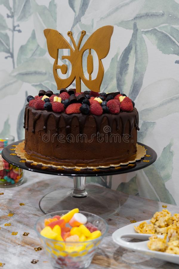 Outstanding 50Th Birthday Cake Stock Photos Download 117 Royalty Free Photos Funny Birthday Cards Online Alyptdamsfinfo