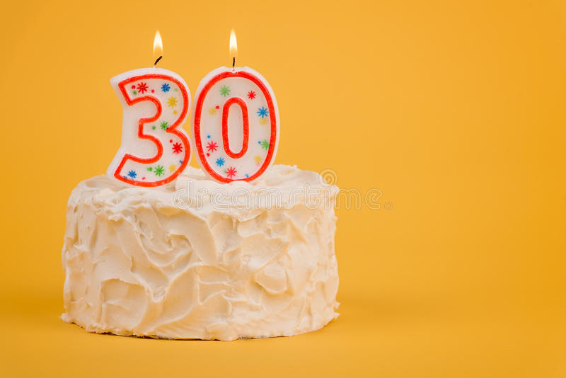 Download 30th Birthday Cake stock image. Image of whipped, background - 75921717