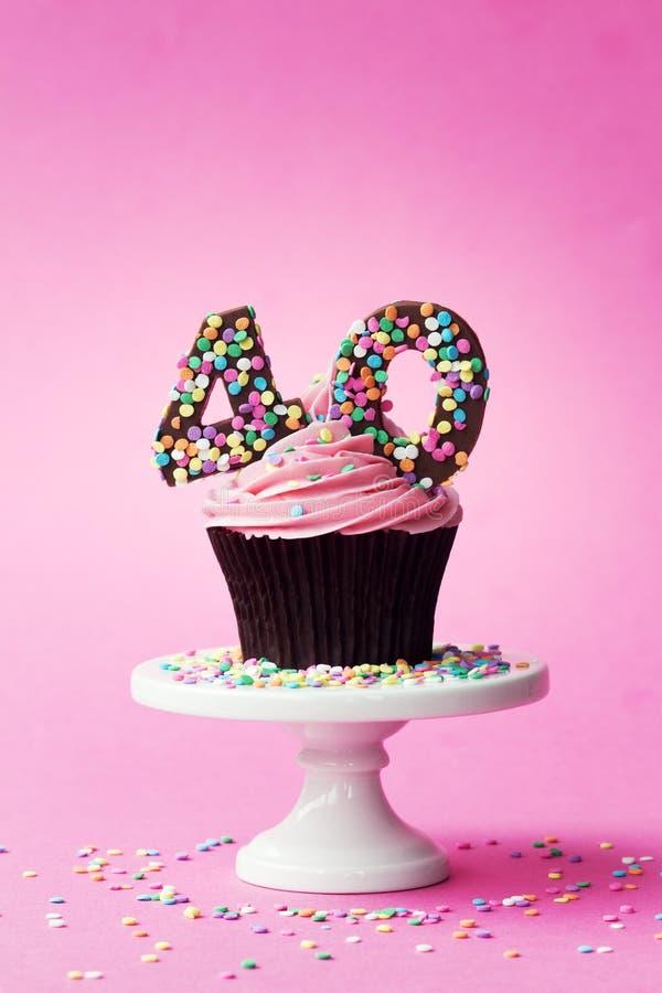 40th birthday cupcake stock images