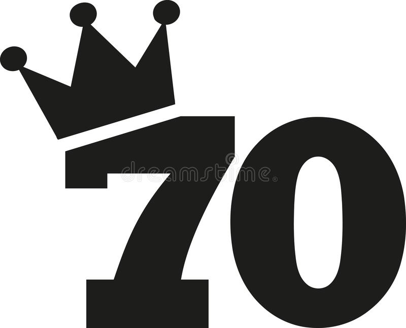 70th Birthday Number Crown Stock Vector Illustration Of Number
