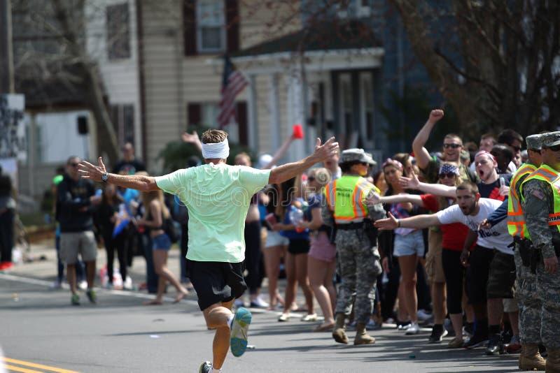 118th Boston maraton mia? miejsce w Boston, Massachusetts, na Poniedzia?ku, Kwietnia 21 patriot obraz stock