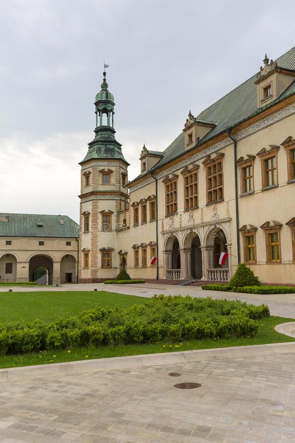 17th century Palace of the Krakow Bishops in Kielce, Poland. 17th century barogue Palace of the Krakow Bishops in Kielce, Poland royalty free stock photo