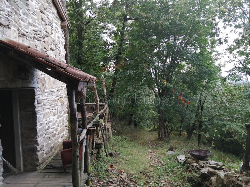 16th century cabine in mountains south from Lucca. 16th century cabine in a private forest south from Lucca, Tuscany royalty free stock photography