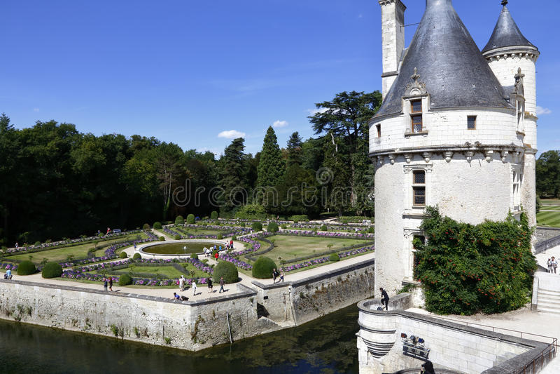 15th century castle Château de Chaumont, acquired by Catherine de Medici in 1560. Chaumont-sur-Loire, Loir-et-Cher, France - sh. Ot August 2015 royalty free stock images