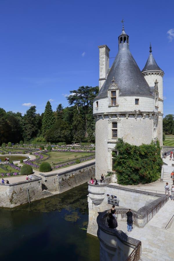 15th century castle Château de Chaumont, acquired by Catherine de Medici in 1560. Chaumont-sur-Loire, Loir-et-Cher, France - sh. Ot August 2015 stock photos