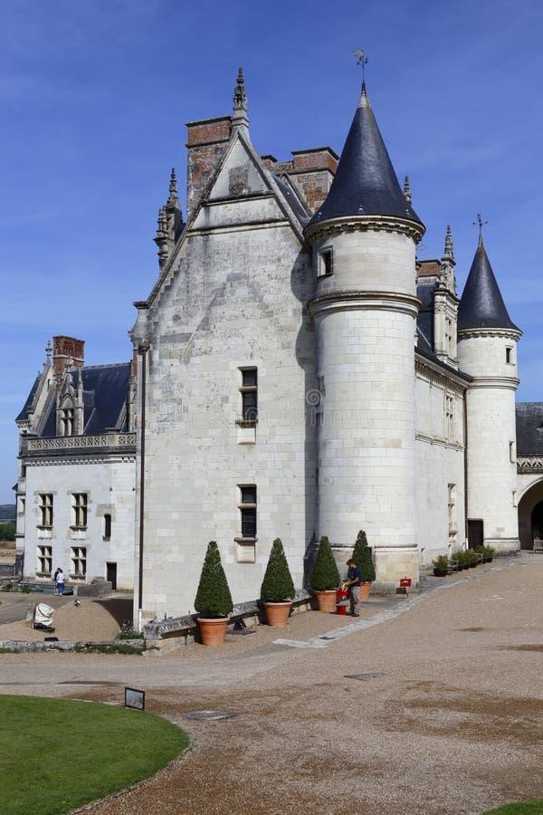 15th century castle Château de Chaumont, acquired by Catherine de Medici in 1560. Chaumont-sur-Loire, Loir-et-Cher, France - sh. Ot August 2015 royalty free stock image