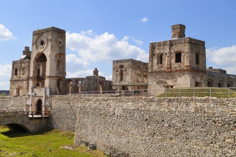 17th century castle Krzyztopor, italian style palazzo in fortezzza, ruins, Ujazd, Poland royalty free stock image