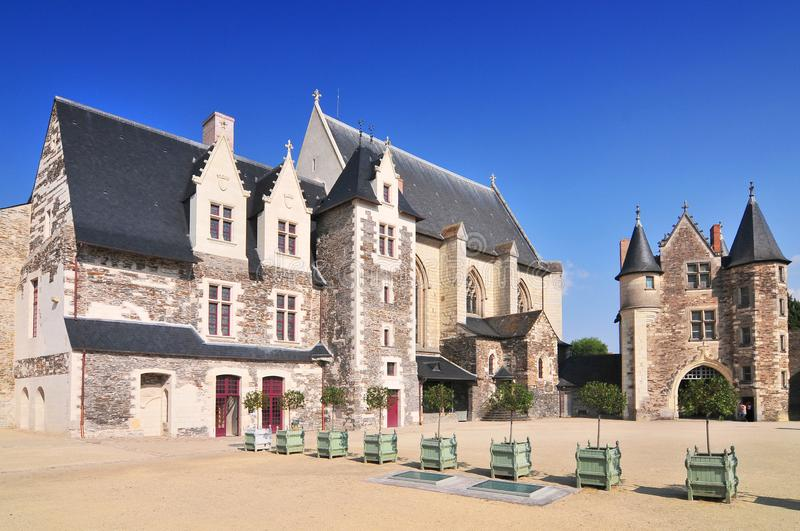 The 15th century chapel Chateau d`Angers. royalty free stock photography