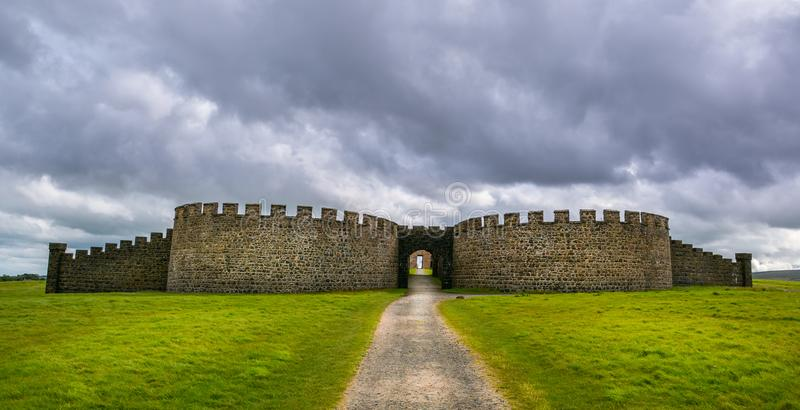 Downhill Demesne and Hezlett House, Castlerock, Londonderry, Northern Ireland. stock image