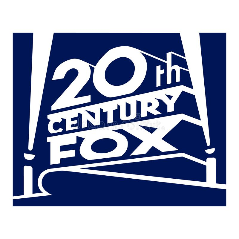 20th Century Fox logo arkivbild