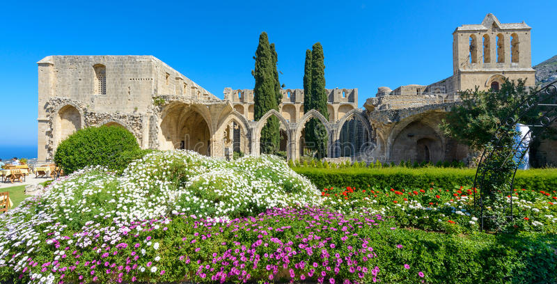13th century Gothic monastery at Bellapais,northern cyprus 3 stock photography