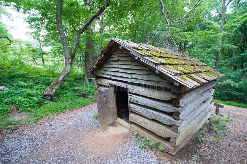 19th Century Log Barn in Appalachians 2. 19th Century Log Barn in Appalachians in Virginian stock photos