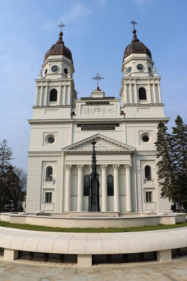 Metropolitan Cathedral in Iasi, Romania. 19th century metropolitan Cathedral in IaÈ™i, the capital of Romanian region of Moldavia. It is the seat of the stock photography