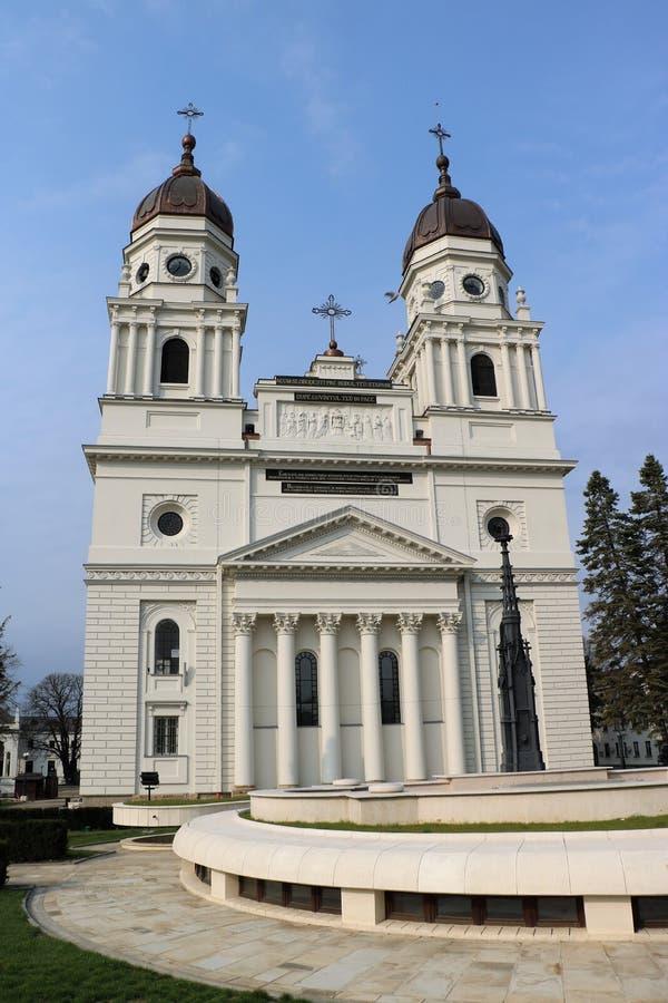 Metropolitan Cathedral in Iasi, Romania. 19th century metropolitan Cathedral in IaÈ™i, the capital of Romanian region of Moldavia. It is the seat of the stock image