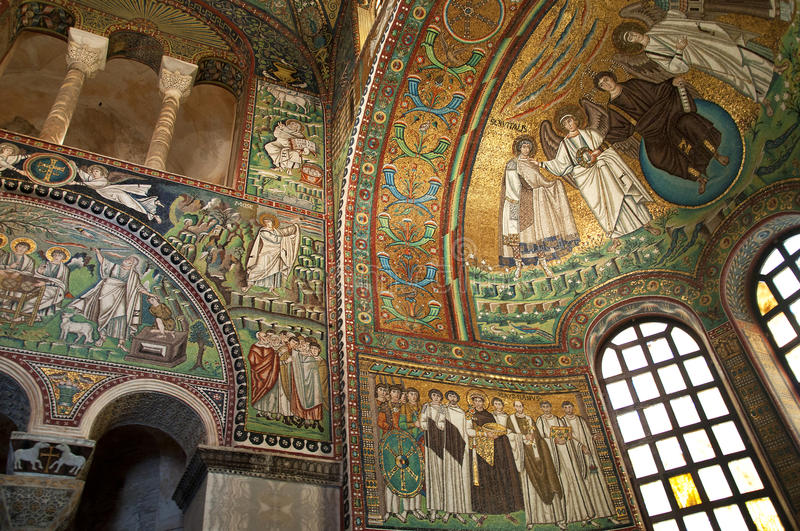 10th Century Mosaic in Ravenna Italy royalty free stock images