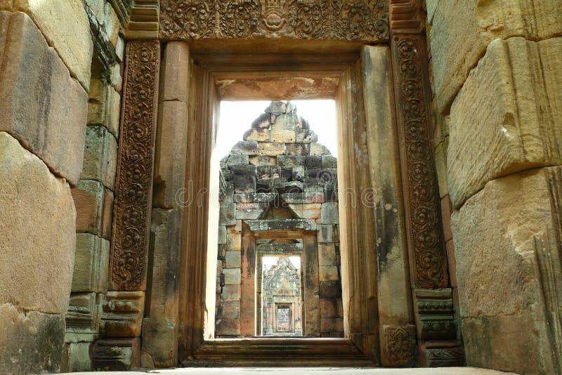 16th century Muang Tam castle, ancient castle at Buriram Thailand stock images