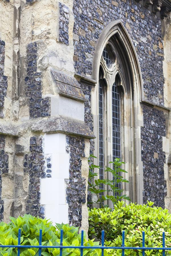 12th century Romanian style Church of St Mary the Virgin, Dover, United Kingdom, London, United Kingdom. 12th century Romanian style Church of St Mary the Virgin royalty free stock photography