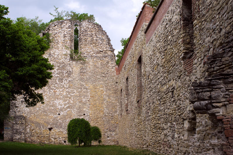 13th century ruin on Margaret Island, Budapest, Hungary. royalty free stock image