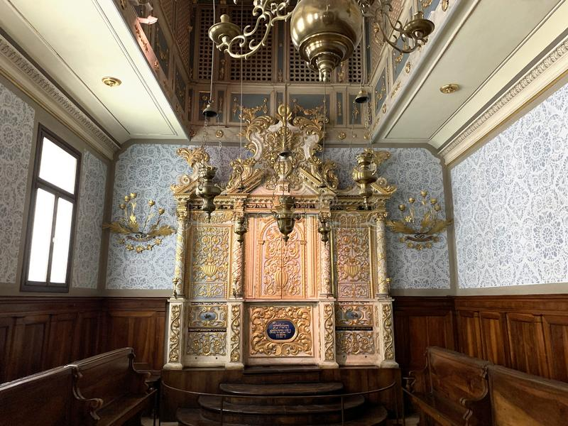 17th Century Synagogue from Conegliano Veneto in the Israel Museum royalty free stock photo