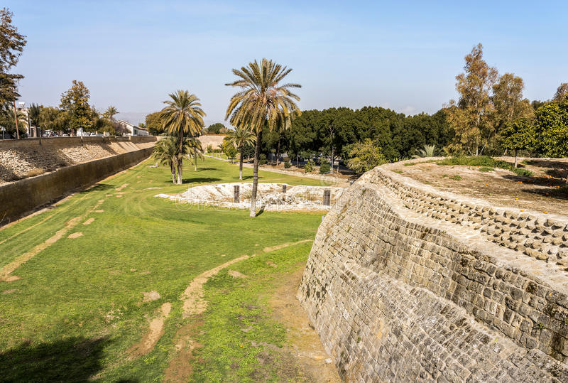 Venetian walls, Nicosia, Cyprus royalty free stock photos