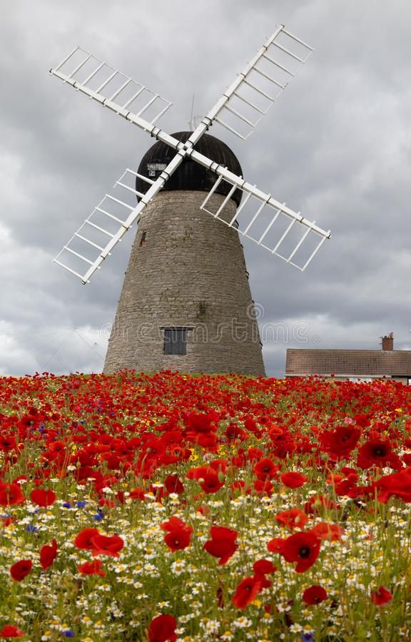 16 th century Whitburn Windmill royalty free stock image