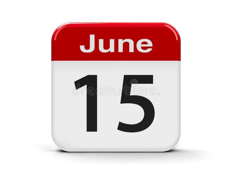 15th Czerwca kalendarz ilustracji