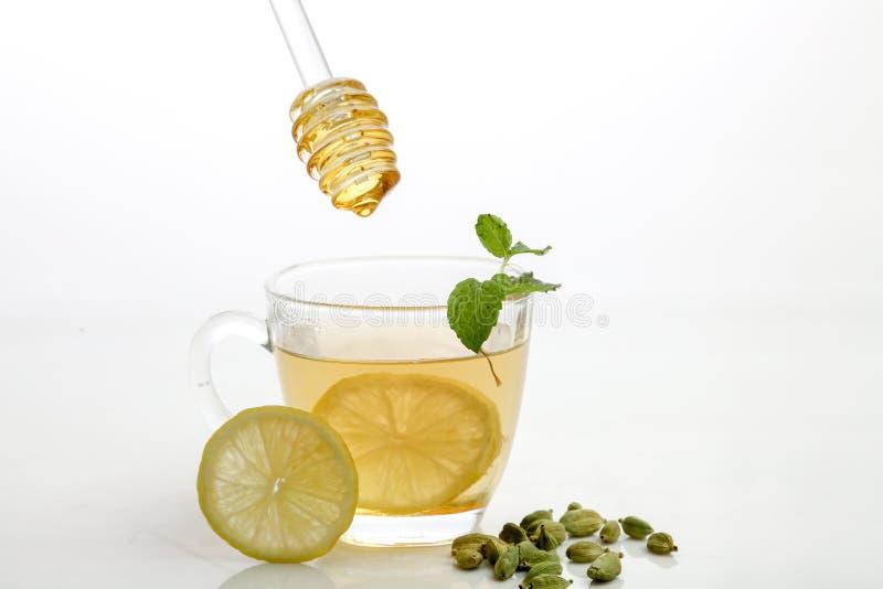 Th? de citron de miel photographie stock libre de droits