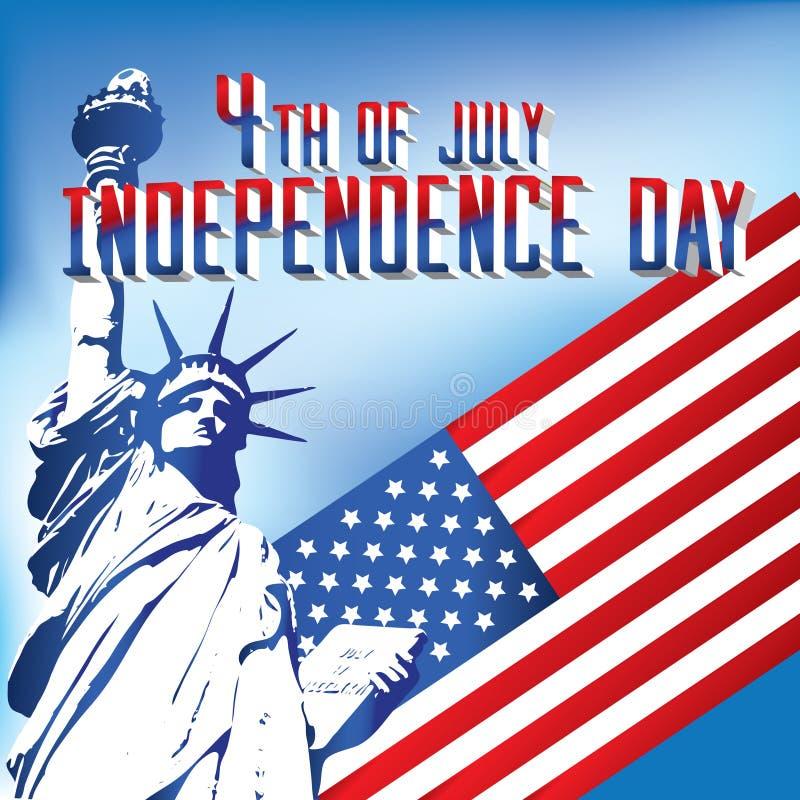 4th dzień niezależność Lipiec zdjęcie royalty free