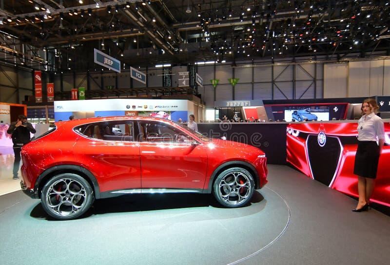 89th exposição automóvel internacional de Genebra - conceito de Romeo Tonale do alfa fotografia de stock