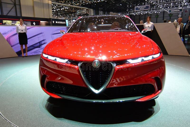 89th exposi??o autom?vel internacional de Genebra - conceito de Romeo Tonale do alfa fotos de stock royalty free