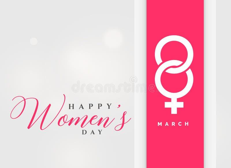 8th för kvinna` s för marsch internationell bakgrund för beröm för dag vektor illustrationer