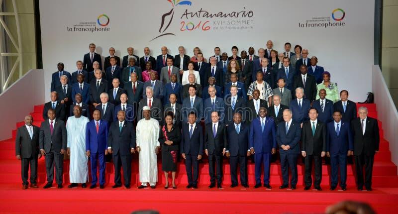 16th Francophonie toppmöte i Antananarivo royaltyfria bilder