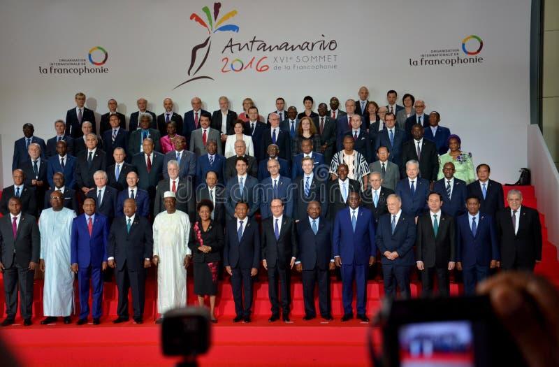 16th Francophonie toppmöte i Antananarivo arkivbilder