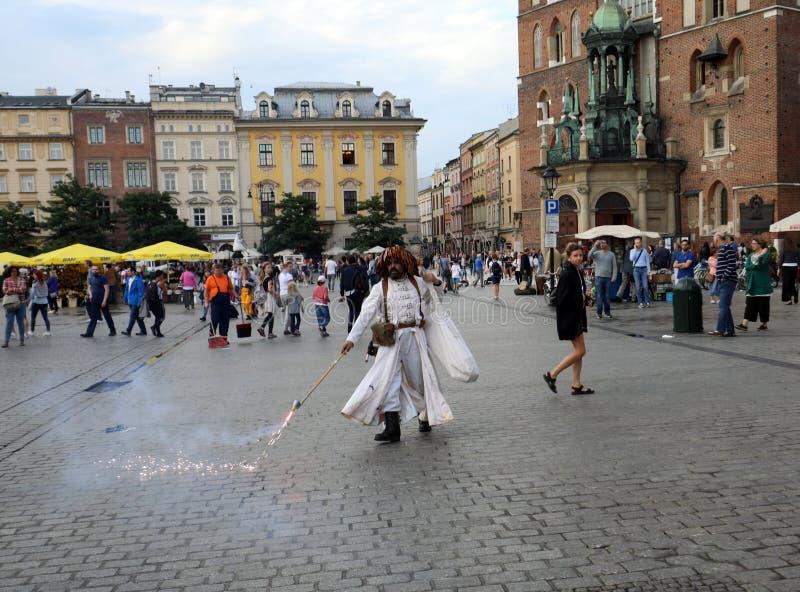 30th gata - internationell festival av gatateatrar i Cracow, Polen fotografering för bildbyråer