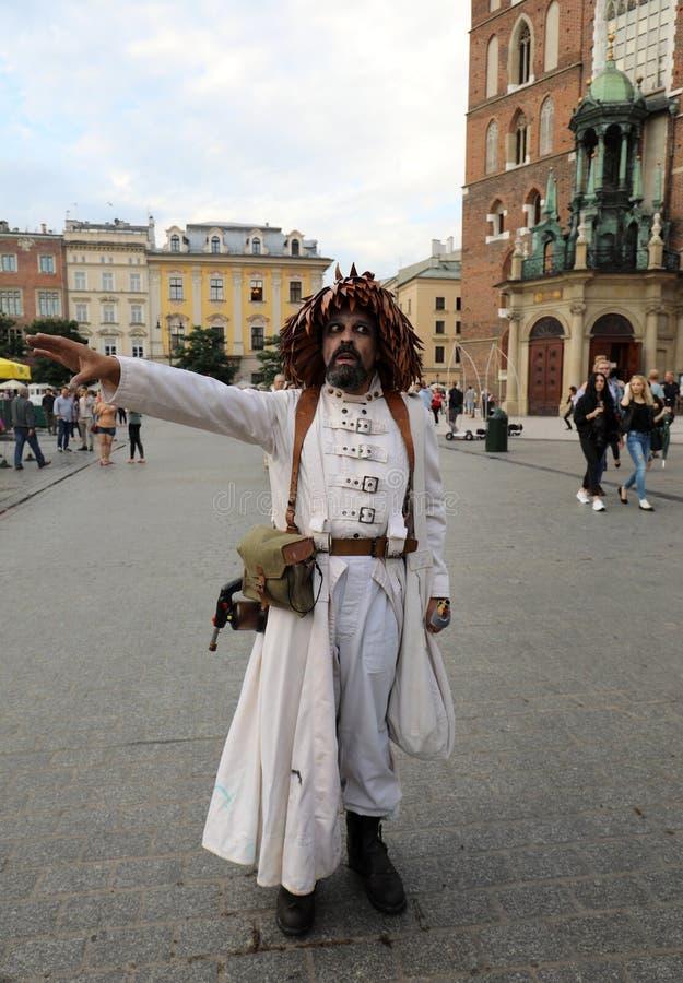 30th gata - internationell festival av gatateatrar i Cracow, Polen royaltyfri foto