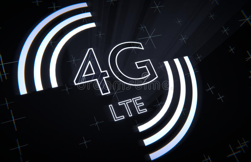 4th generation mobile network stock illustration