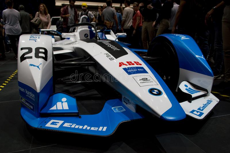 BMW Formula E at Geneva 2019 royalty free stock image