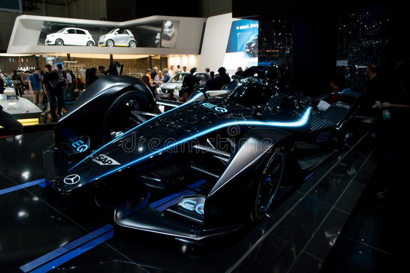 Mercedes Formula E at Geneva 2019 royalty free stock image