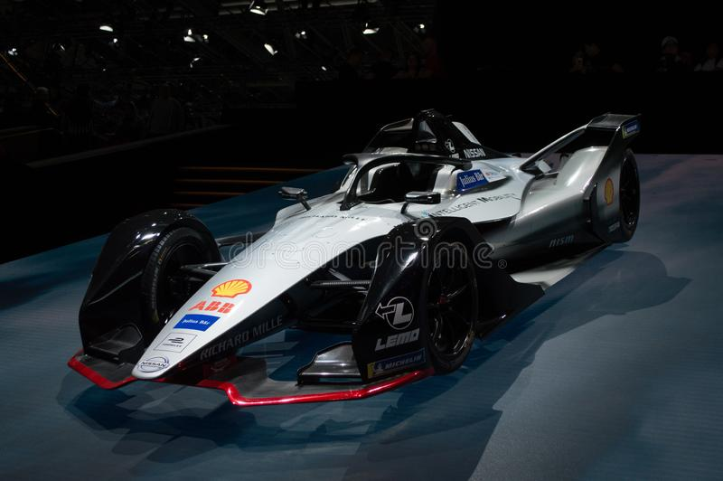 Nissan Formula E at Geneva 2019 royalty free stock image